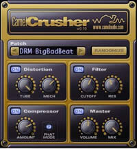 Free distortion compressor filter CamelCrusher – VST AU multi-effect for Windows and Mac