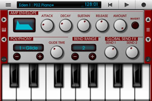 Recording software for iPhone and iPad with synths, samplers, sequencer and mixer: Nanostudio