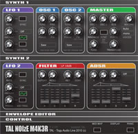 Free audio VST synth plugin with 3 oscillators, for Mac and Windows: TAL – NoiseMaker