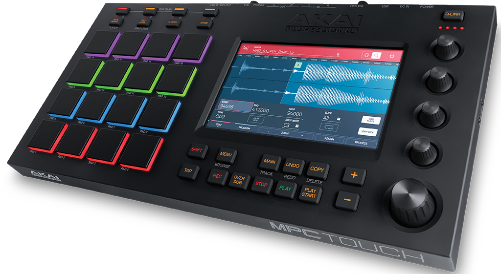 Akai MPC Touch allows a fast and intuitive workflow for music production